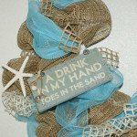 Sign burlap wreath