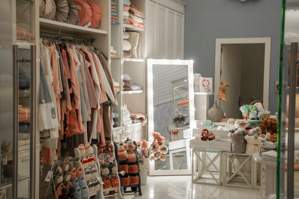 clothes closet new boho