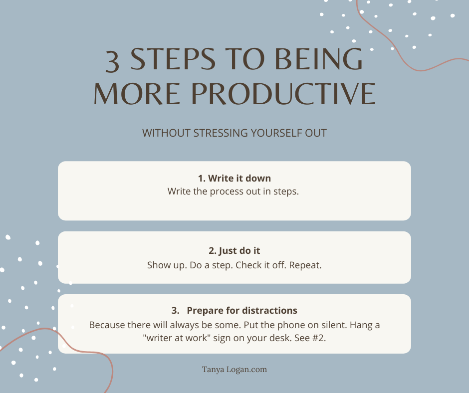 3 steps to being more productive
